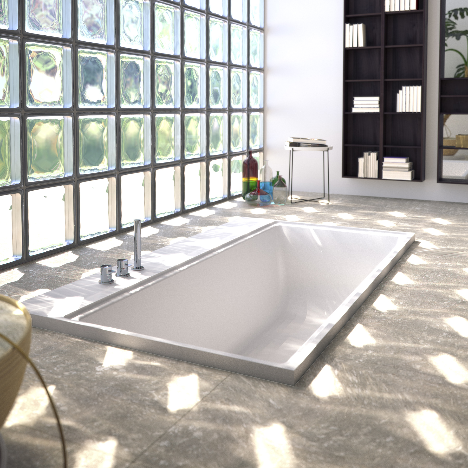 NEUTRA BATHTUBS SYSTEM IN ASTONE®/RECESSED POSITIONING - SIGN products